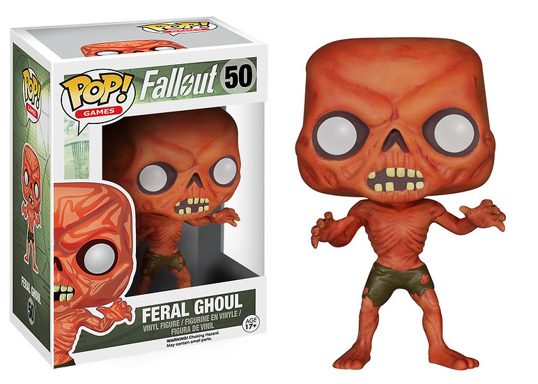 Pop! Games Fallout Vinyl Figure Feral Ghoul #50 (Vaulted)