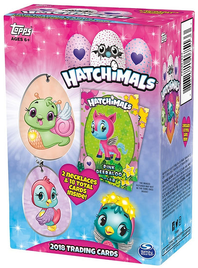Topps Hatchimals Trading Cards & 2 Necklaces