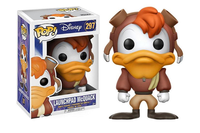 Pop! Disney Darkwing Duck Vinyl Figure Launchpad McQuack #297 (Vaulted)