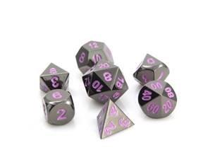 Die Hard Metal RPG Dice (Gunmetal Purple)