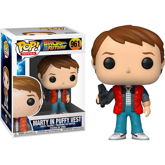 Pop! Movies Back to the Future Vinyl Figure Marty in Puffy Vest #961