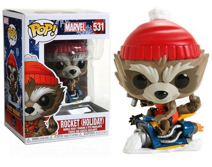Pop! Marvel Holiday Vinyl Bobble-Head Rocket (Holiday) #531