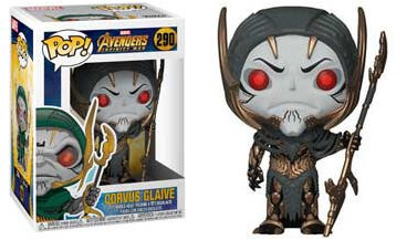 Pop! Marvel Avengers Infinity War Vinyl Bobble-Head Corvus Glaive #290