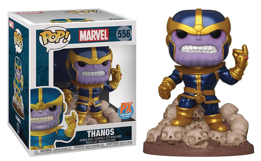 "Pop! Marvel Vinyl Bobble-Head 6"" Thanos #556 PX Previews Exclusive"