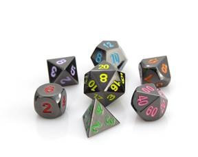 Die Hard Metal RPG Dice ( Sinister Rainbow)