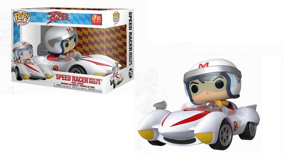 Pop! Rides Animation Speed Racer Vinyl Figure Speed Racer with Mach 5 #75