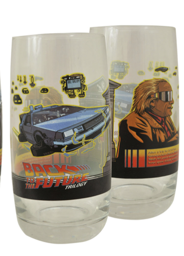 Back to the Future Glass Tumbler