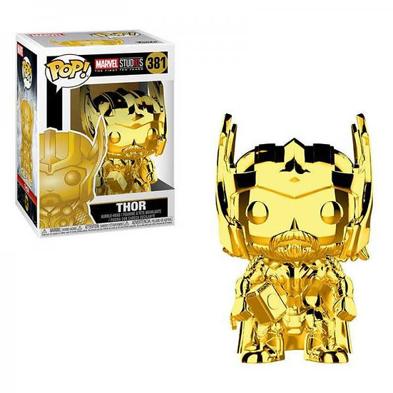 Pop! Marvel Studios The First Ten Year Vinyl Bobble-Head Thor (Gold Chrome) #381