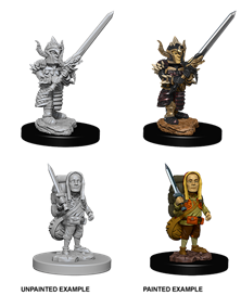 Dungeons & Dragons Nolzur's Marvelous Miniatures: Halfling Fighter (Male)