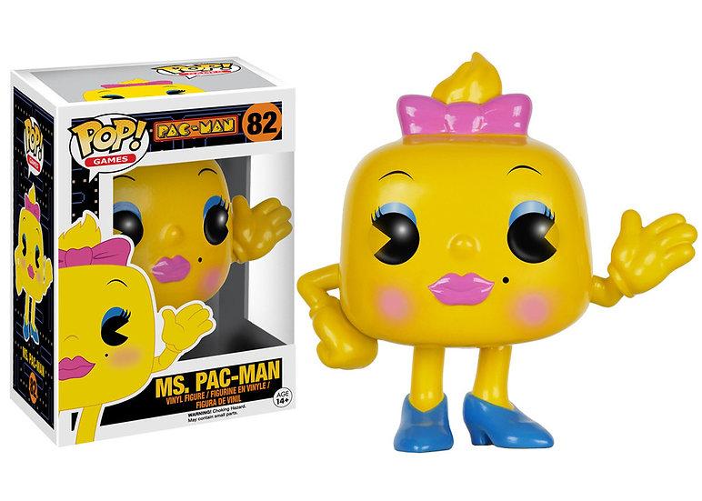 Pop! Games Pac-Man Vinyl Figure Ms. Pac-Man #82 (Vaulted)