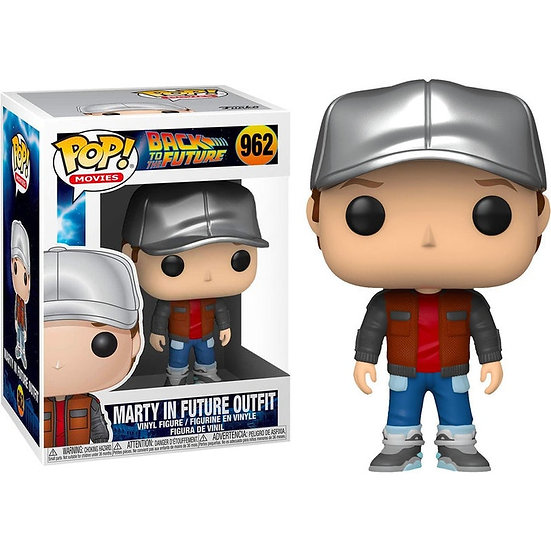 Pop! Movies Back to the Future Vinyl Figure Marty in Future Outfit #962