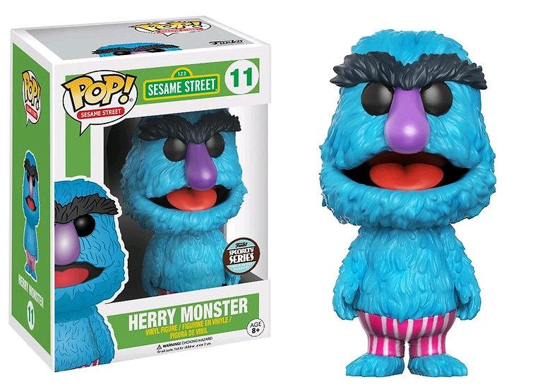 Pop! Television Sesame Street Vinyl Figure Herry Monster #11 Specialty Series