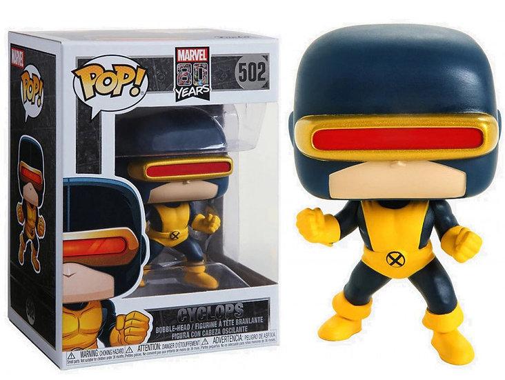 Pop! Marvel 80 Years Vinyl Bobble-Head Cyclops (1st Appearance) #502