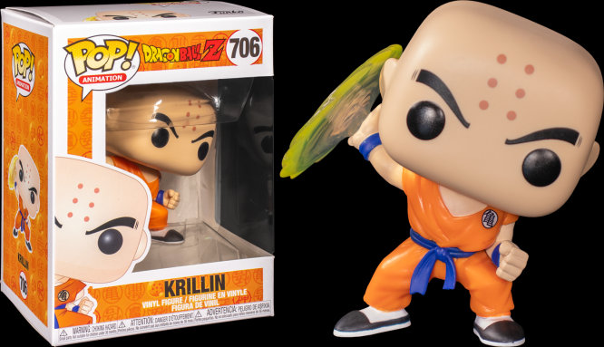 Pop! Animation Dragon Ball Z Vinyl Figure Krillin (Destructo Disc) #706