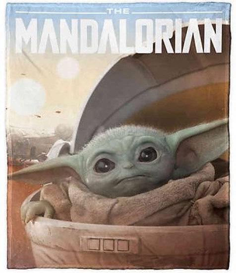 The Mandalorian Super Plush Throw Blanket: The Child