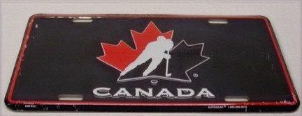 Team Canada Metal License Plate