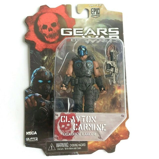 "NECA Gears of War Series 1 CLAYTON CARMINE 4"" Action Figure Game 10cm 3 3/4"""
