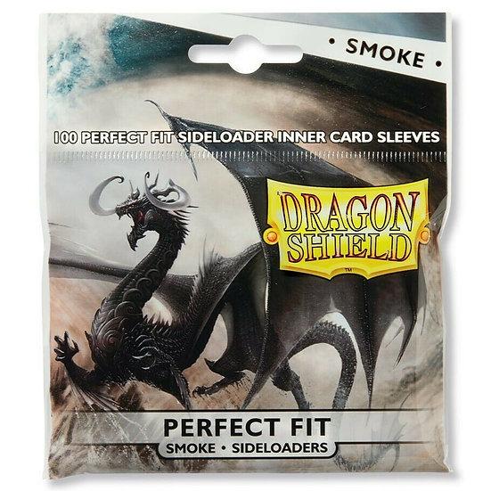 Dragon Shield Perfect Fit Side-Load SMOKE Card Protectors Standard 100ct 63x88mm