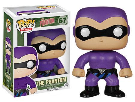 Pop! Heroes The Phantom  The Phantom (Purple) #67 (Vaulted) (Box Damage)
