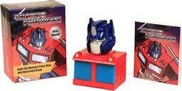 Transformers: Light-Up Optimus Prime Bust and Illustrated Book : With Sound!