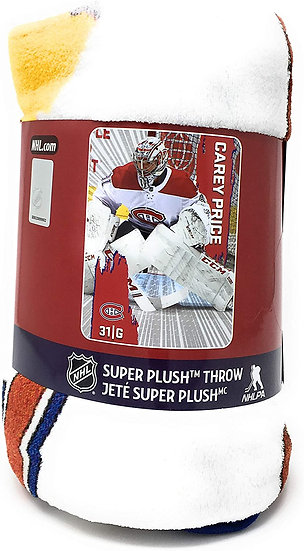 "NHL Montreal Canadiens Blanket with Carey Price - 46"" x 60"" Habs Throw Blanket"