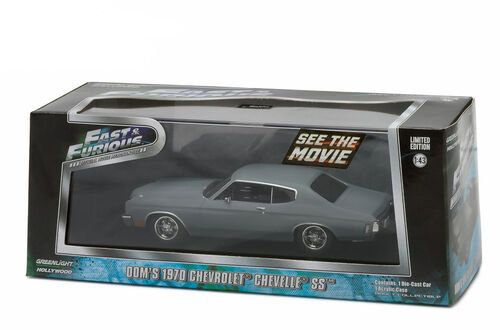 Fast and Furious Doms 1970 Chevrolet Chevelle SS Greenlight 86227 Scale 1 43