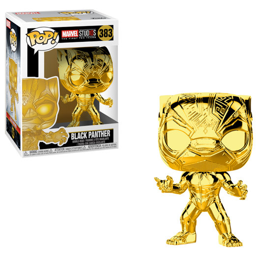 Pop! Marvel Studios The First Ten Year Black Panther (Gold Chrome) #383