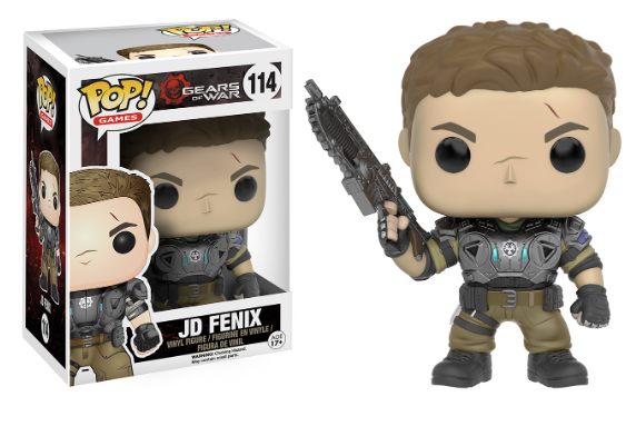 Pop! Games Gears of War Vinyl Figure JD Fenix #114