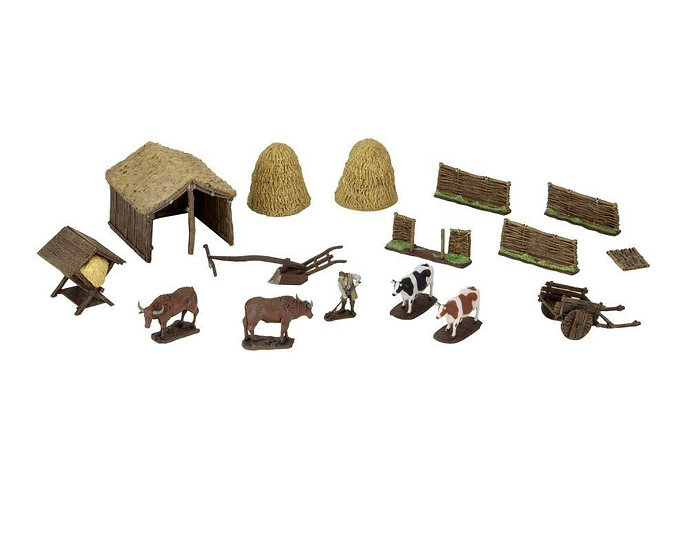 4D Setting Medieval Farmer Terrains Pack