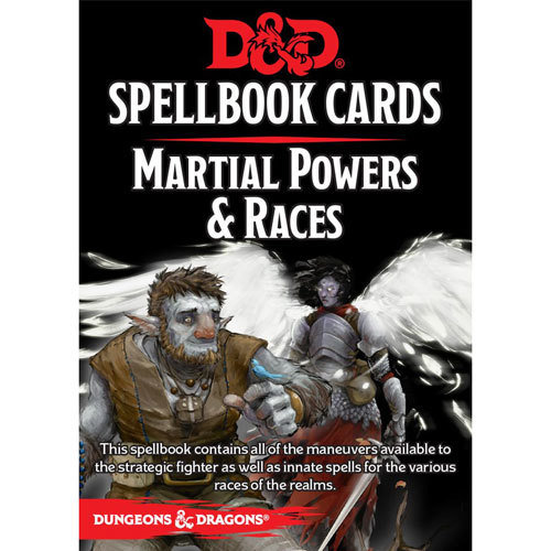 Dungeons & Dragons (5th Ed.): Spellbook Cards- Martial Powers & Races