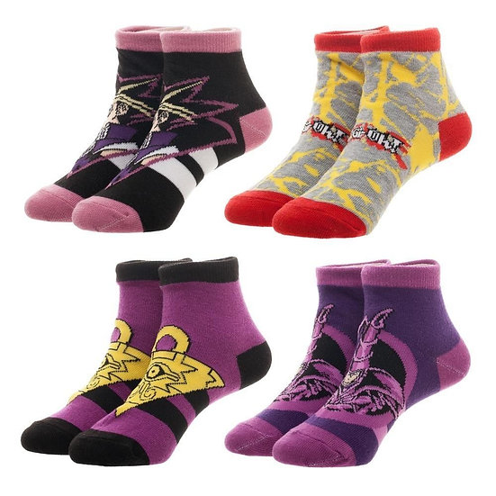 YU-GI-OH! Children's Ankle Socks 4 Pairs