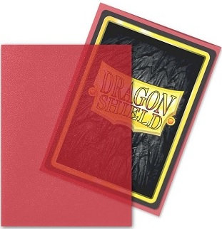 Dragon Shields: Matte Clear Card Sleeves (100): Red