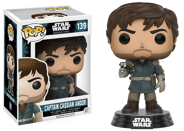 Pop! Star Wars Rogue One Vinyl Bobble-Head Captain Cassian Andor #139