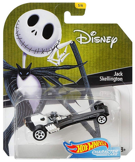 Disney Hot Wheels Character Cars Series 4 Jack Skellington Die Cast Car