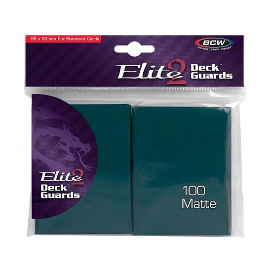 BCW Deck Guard - Elite2 - Anti-Glare - Teal 100 Sleeves