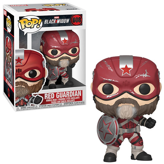 Pop! Marvel Black Widow Vinyl Bobble-Head Red Guardian #608
