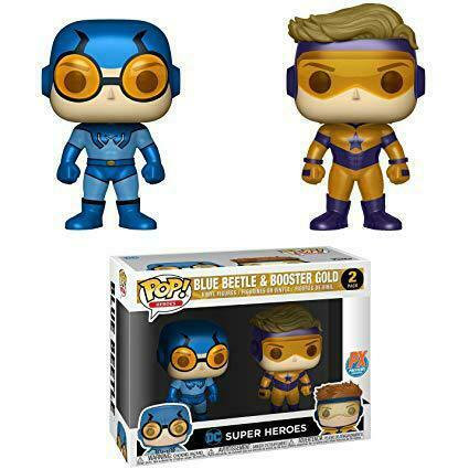 Funko Pop DC Heroes Blue Beetle & Booster Gold PX Previews 2 Pack