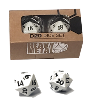 Ultra Pro Heavy Metal D20 Dice Set White