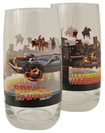 Back to the Future Part III Glass Tumbler