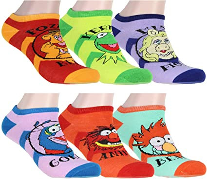 Disney The Muppets 6 Pack Ankle Socks