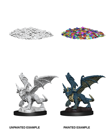 Dungeons & Dragons Nolzur's Marvelous Miniatures: Blue Dragon Wyrmling