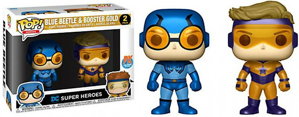 DC Universe POP Heroes Booster Gold & Blue Beetle Vinyl Figure 2-Pack