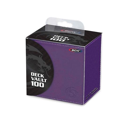 BCW Deck Vault - LX - 100 - Purple