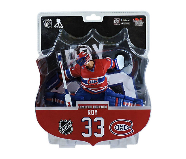 "2017-18 Patrick Roy Montreal Canadiens NHL Legend 6"" Figure Imports Dragon"