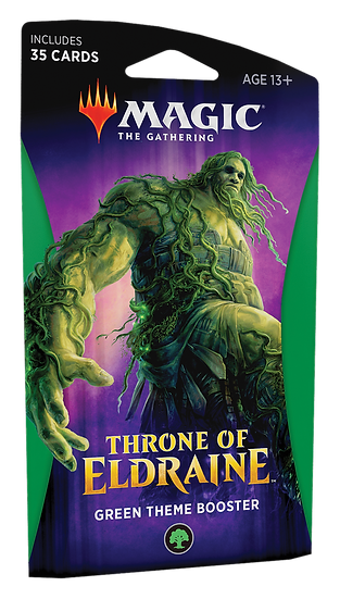 Magic the Gathering: Throne of Eldraine - Themed Booster [Green]
