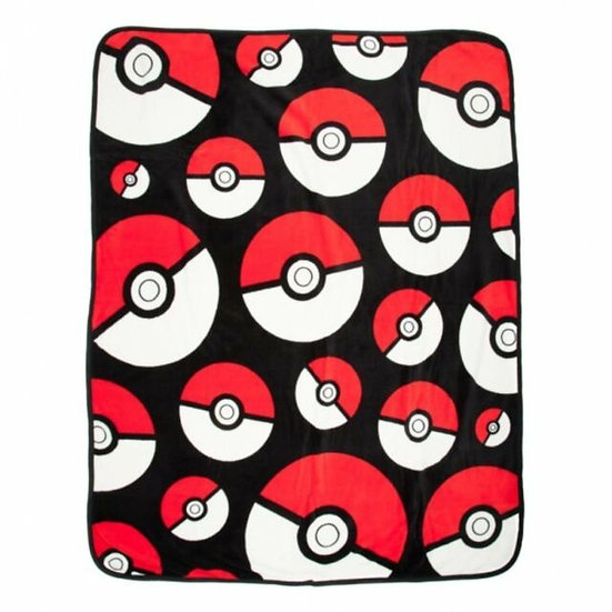 Pokemon Pokeball ALL OVER PRINT 48in x 60in Micro Plush Throw BLANKET