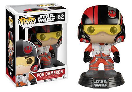 Pop! Star Wars The Force Awakens Vinyl Bobble-Head Poe Dameron #62 (Vaulted)