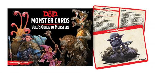 Dungeons & Dragons (5th Ed): Monster Cards- Volo's Guide to Monsters