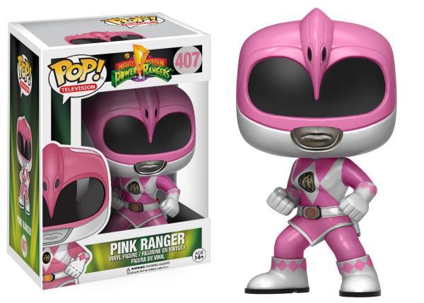 Pop! Television Power Rangers Vinyl Figure Pink Ranger #407 (Vaulted)