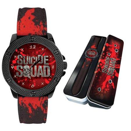 DC Comics Suicide Squad Unisex Watch & Tin